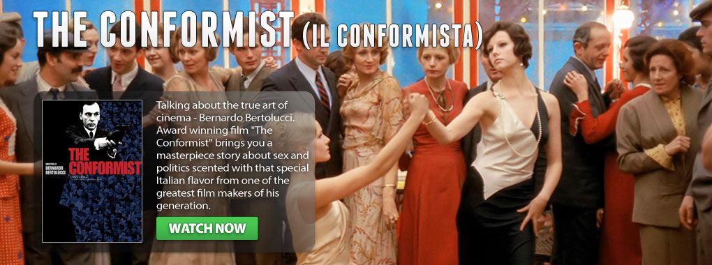 The conformist, award winning film, directed by Bernardo Bertolucci